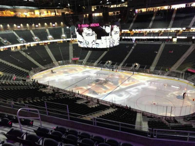 Seating view for T-Mobile Arena Section 208 Row f Seat 8