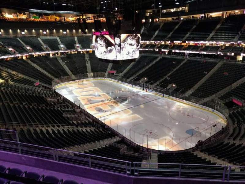 Seating view for T-Mobile Arena Section 210 Row e Seat 10