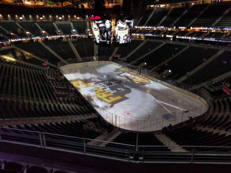 Seating view for T-Mobile Arena Section 211 Row d Seat 8