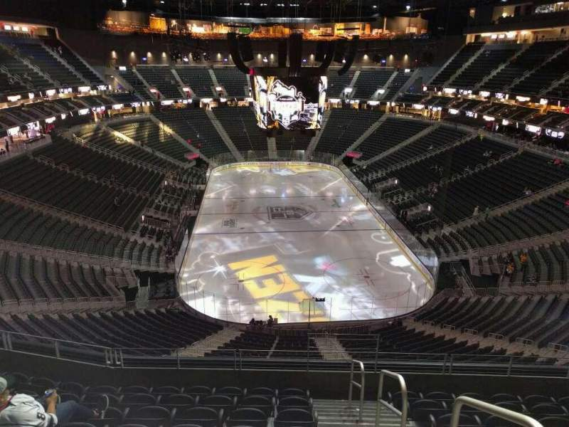 Seating view for T-Mobile Arena Section 213 Row h Seat 16