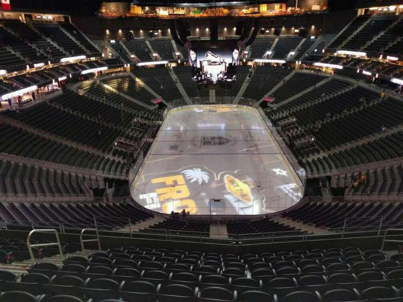 Seating view for T-Mobile Arena Section 214 Row k Seat 8