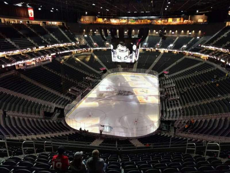 Seating view for T-Mobile Arena Section 215 Row m Seat 9