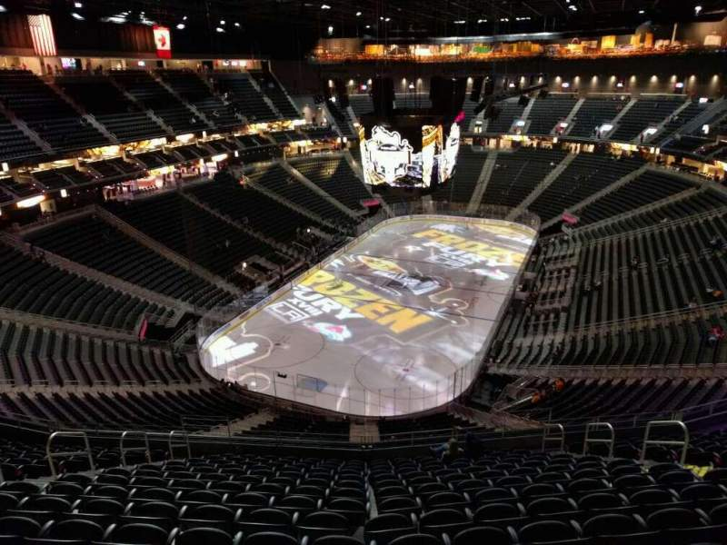 Seating view for T-Mobile Arena Section 216 Row p Seat 10
