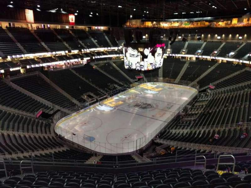 Seating view for T-Mobile Arena Section 217 Row l Seat 10