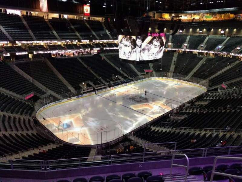 Seating view for T-Mobile Arena Section 218 Row g Seat 13