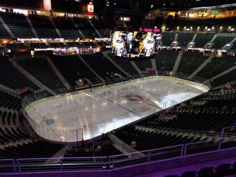 Seating view for T-Mobile Arena Section 218 Row e Seat 8