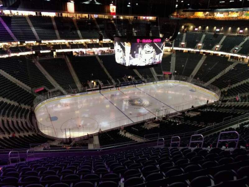 Seating view for T-Mobile Arena Section 220 Row p Seat 9