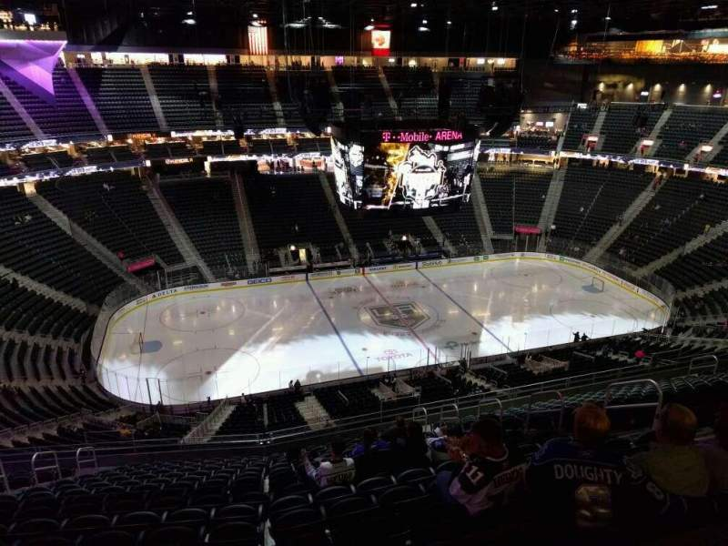 Seating view for T-Mobile Arena Section 221 Row r Seat 11