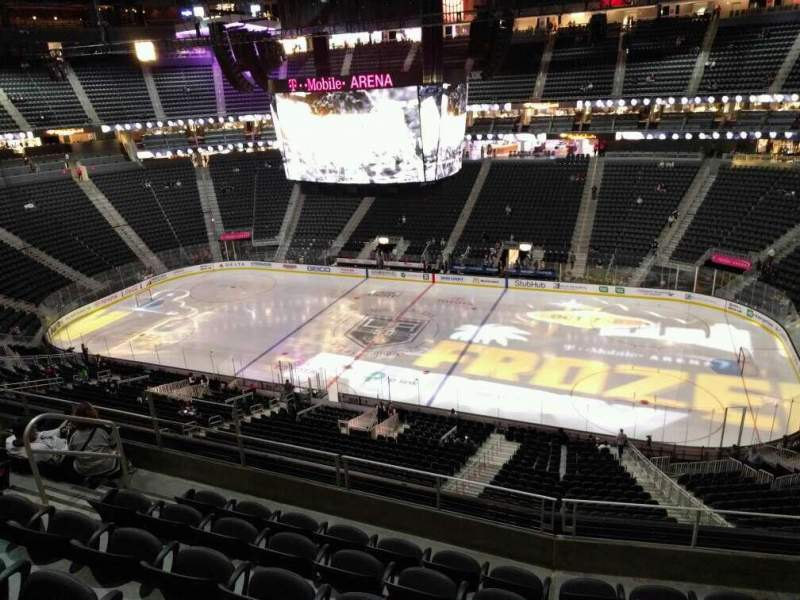Seating view for T-Mobile Arena Section 225 Row f Seat 9
