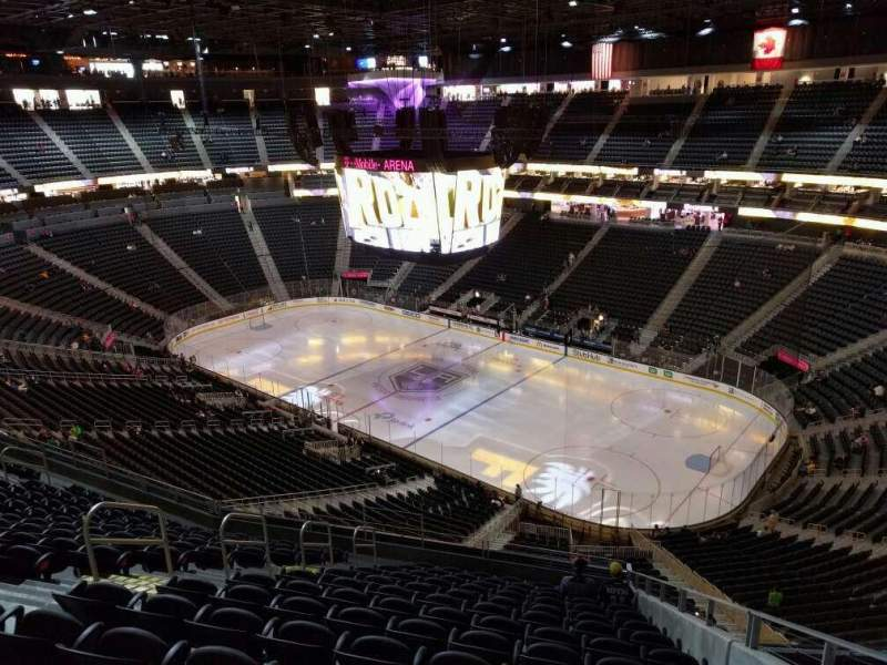 Seating view for T-Mobile Arena Section 227 Row n Seat 8