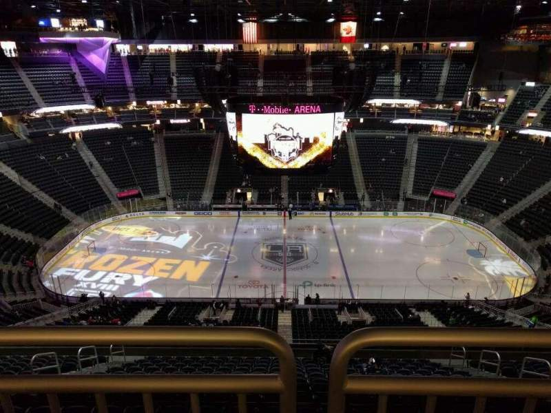 Seating view for T-Mobile Arena Section 226 Row wc