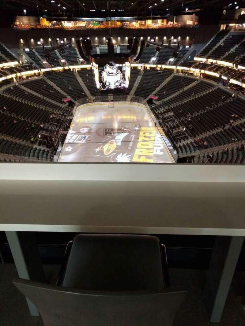 Seating view for T-Mobile Arena Section 214 Row wc