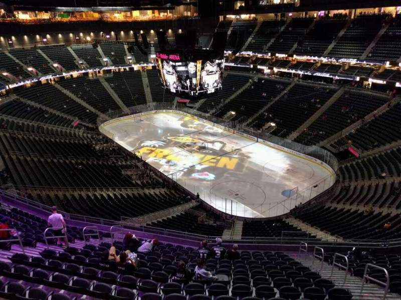 Seating view for T-Mobile Arena Section 210 Row wc