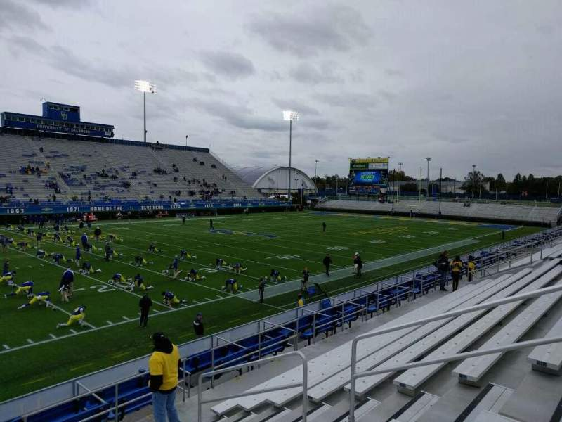 Seating view for Delaware Stadium Section n Row j Seat 8