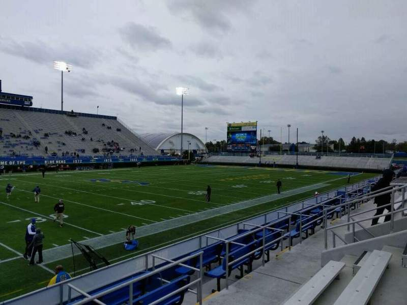 Seating view for Delaware Stadium Section m Row d Seat 16