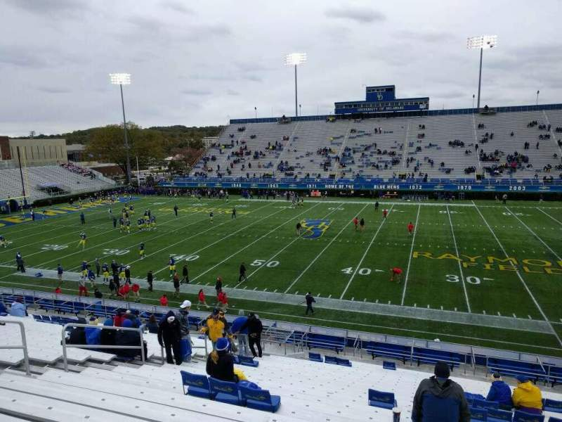 Seating view for Delaware Stadium Section j Row y Seat 20