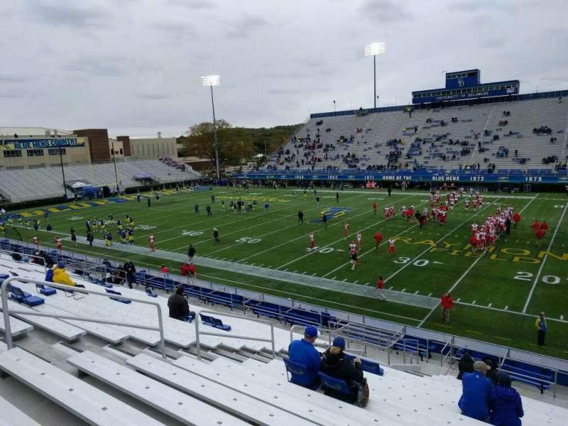 Seating view for Delaware Stadium Section i Row t Seat 22