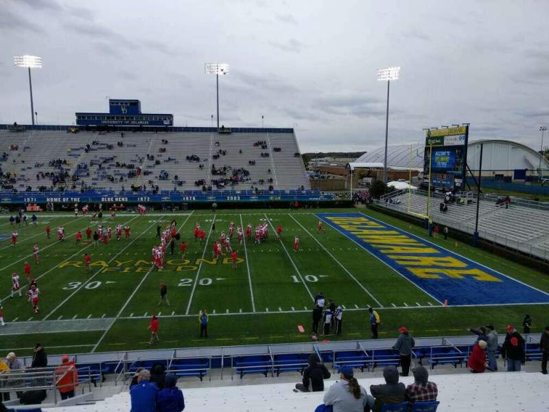 Seating view for Delaware Stadium Section i Row t Seat 20