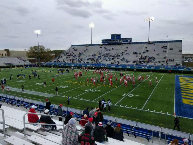 Seating view for Delaware Stadium Section h Row n Seat 7
