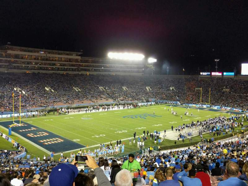 Seating view for Rose Bowl Section 1-L Row 67 Seat 2