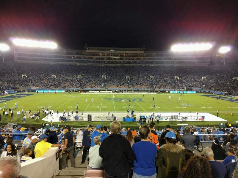Seating view for Rose Bowl Section 4-H Row 40 Seat 103
