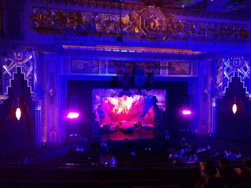 Seating view for Hollywood Pantages Theatre Section Mezzanine LC Row h Seat 304