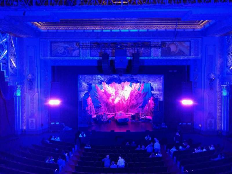 Seating view for Pantages Theatre (Hollywood) Section Mezzanine C Row b Seat 107