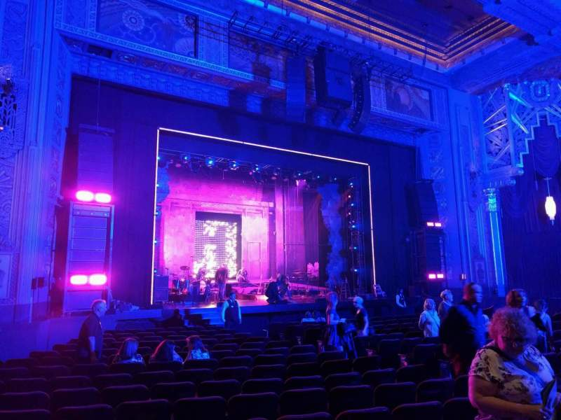 Seating view for Hollywood Pantages Theatre Section Orchestra LC Row r Seat 310