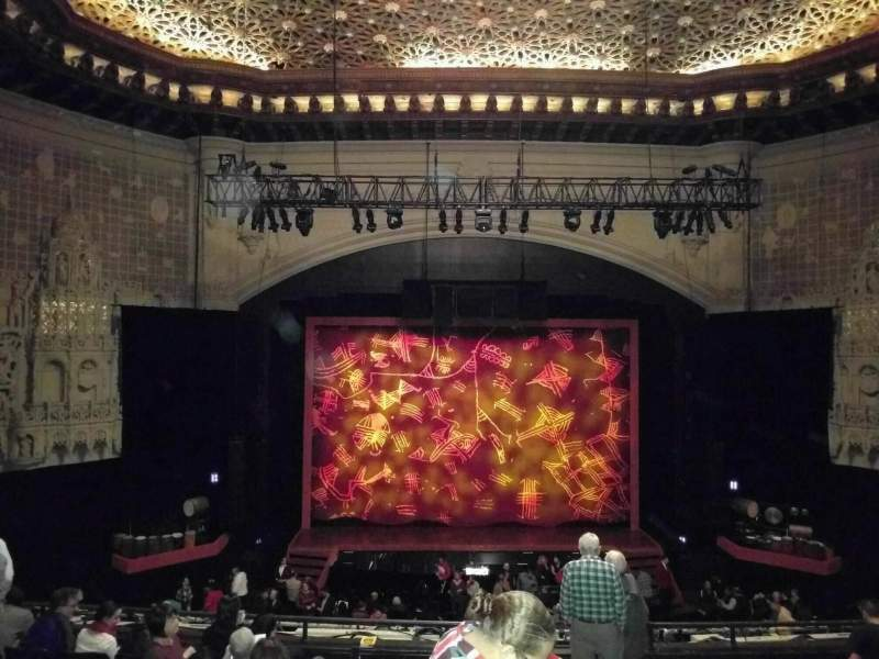 Seating view for Orpheum Theatre (San Francisco) Section Mezzanine LC Row j Seat 103