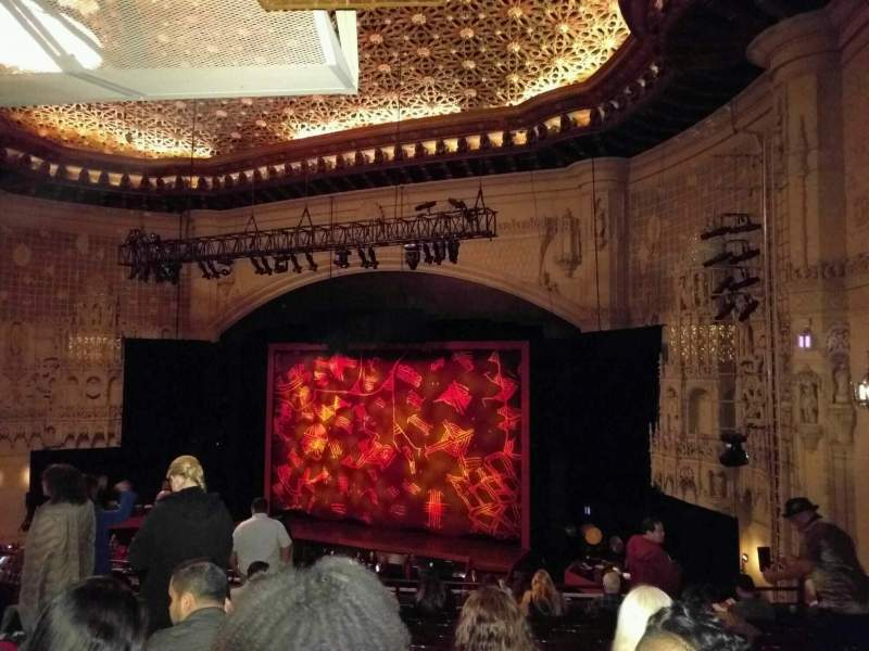 Seating view for Orpheum Theatre (San Francisco) Section Mezzanine R Row l Seat 20
