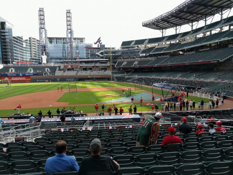 Seating view for Truist Park Section 131 Row 13 Seat 11