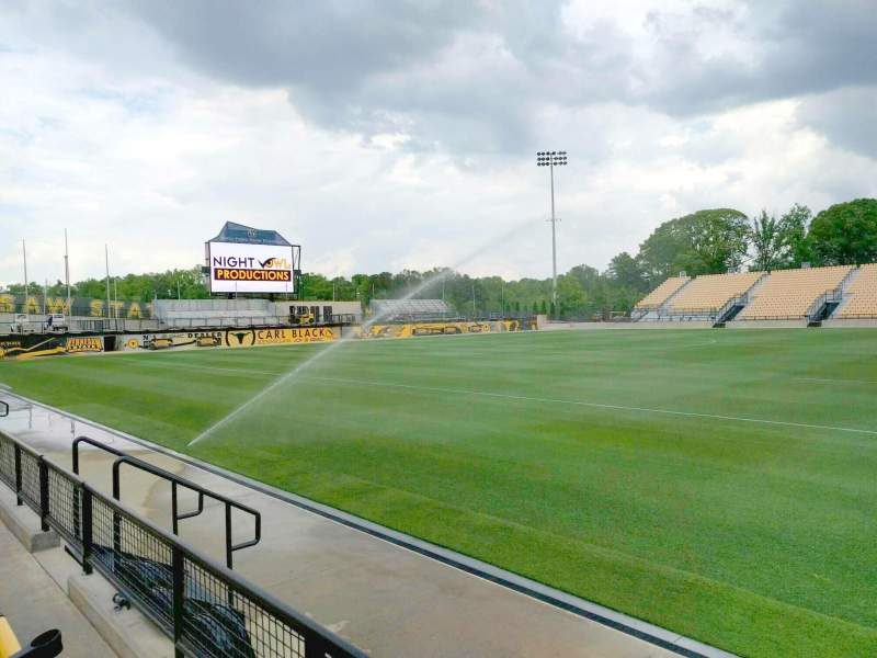 Seating view for Fifth Third Bank Stadium Section 106 Row b Seat 10