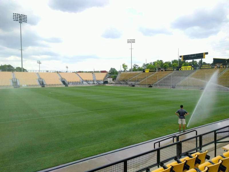 Seating view for Fifth Third Bank Stadium Section 107 Row e Seat 9