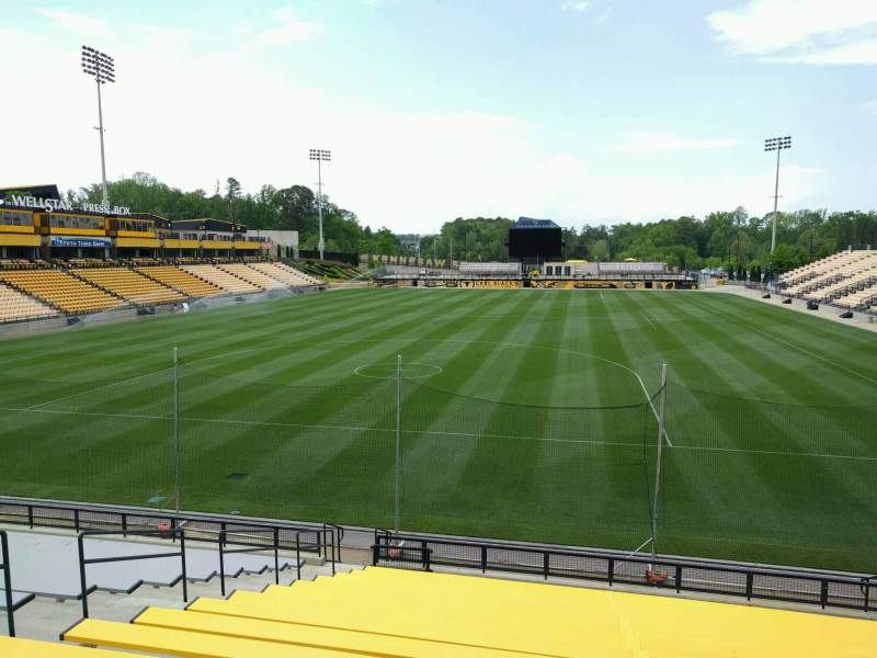 Seating view for Fifth Third Bank Stadium Section 117