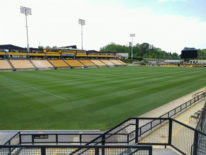 Seating view for Fifth Third Bank Stadium Section 120 Row k Seat 6