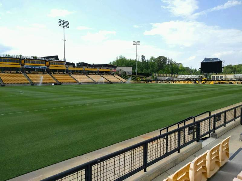 Seating view for Fifth Third Bank Stadium Section 123 Row c Seat 7