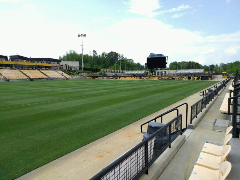Seating view for Fifth Third Bank Stadium Section 124 Row b  Seat 7