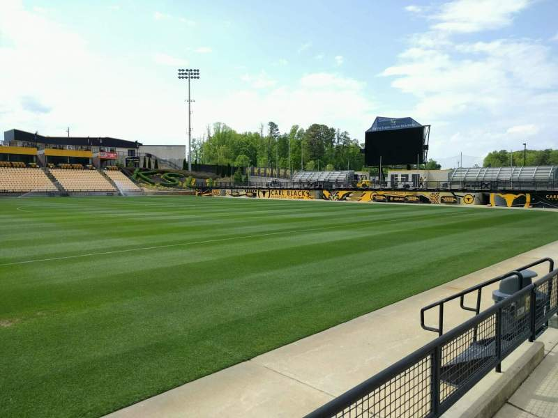 Seating view for Fifth Third Bank Stadium Section 127 Row b Seat 7