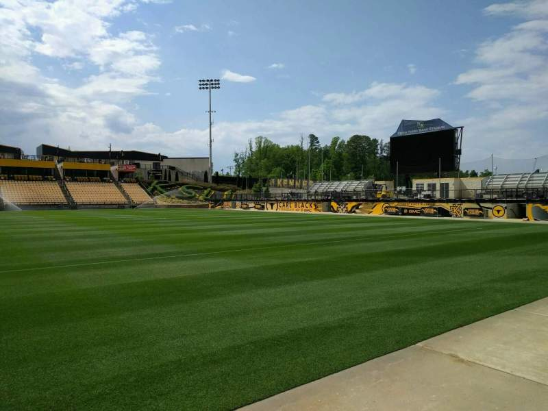 Seating view for Fifth Third Bank Stadium Section 128 Row a Seat 7