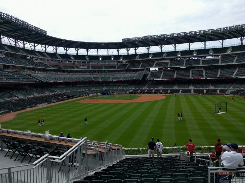 Seating view for Truist Park Section 155 Row 17 Seat 5