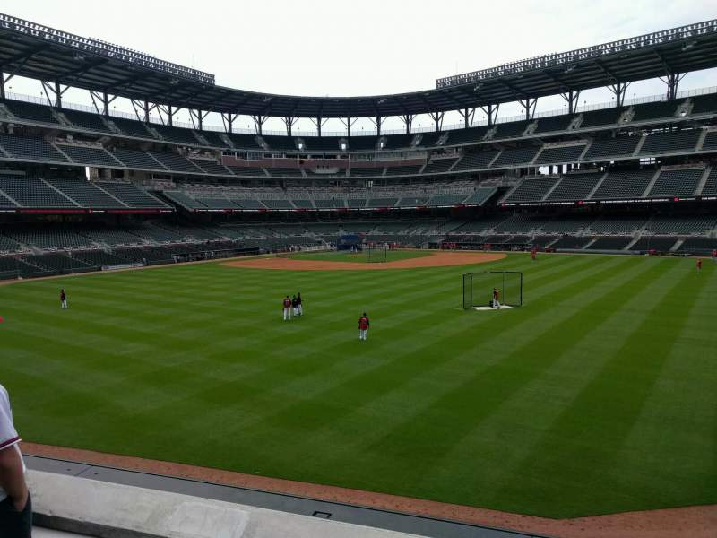 Seating view for Truist Park Section 152 Row 9 Seat 9