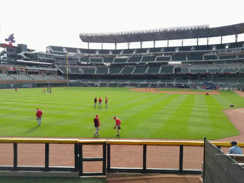 Seating view for Truist Park Section 144 Row 10 Seat 14