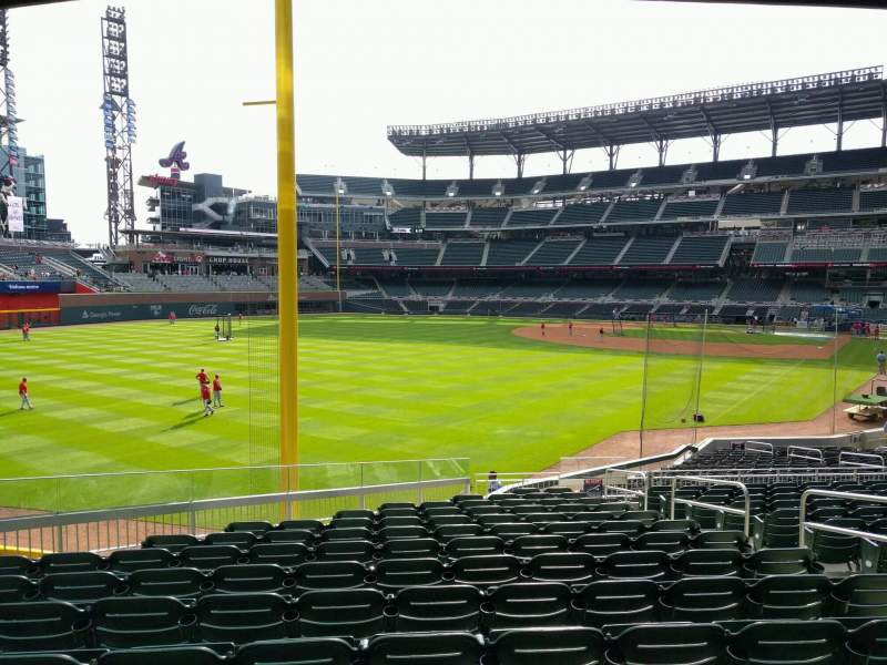 Seating view for Truist Park Section 143 Row 14 Seat 7