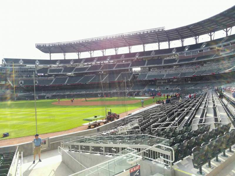 Seating view for Truist Park Section 141 Row 1 Seat 8