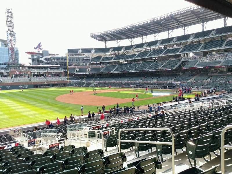 Seating view for Truist Park Section 138 Row 12 Seat 5