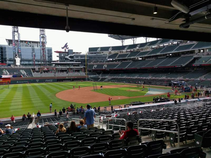 Seating view for Truist Park Section 137 Row 16 Seat 6