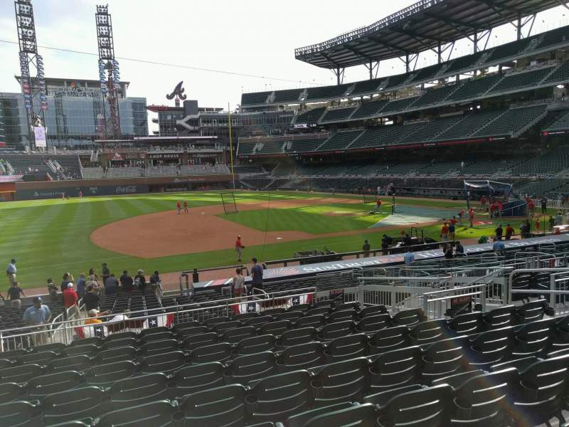Seating view for Truist Park Section 135 Row 10 Seat 10