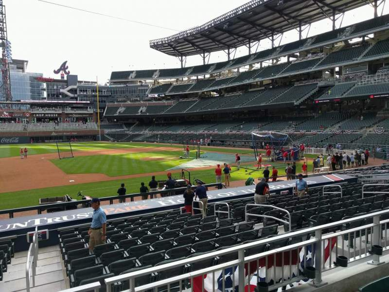 Seating view for Truist Park Section 133 Row 3 Seat 12