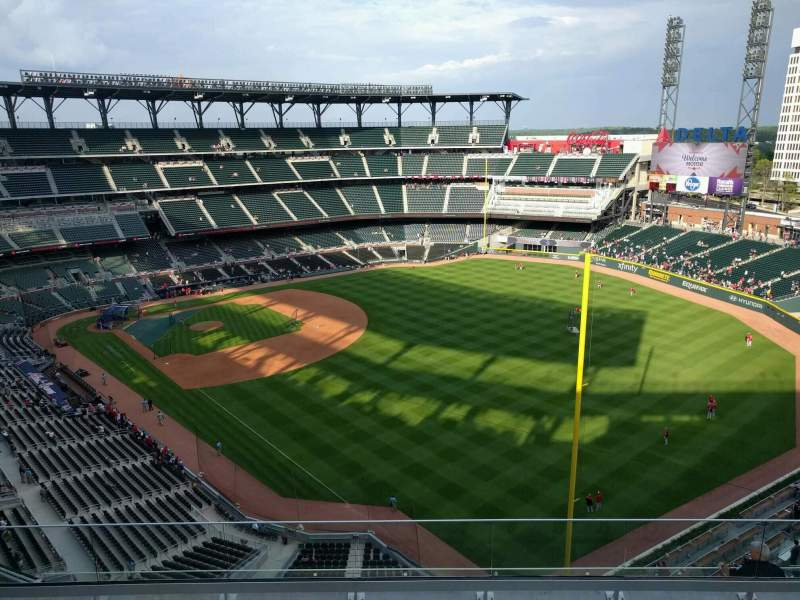 Seating view for Truist Park Section 411 Row 6 Seat 9