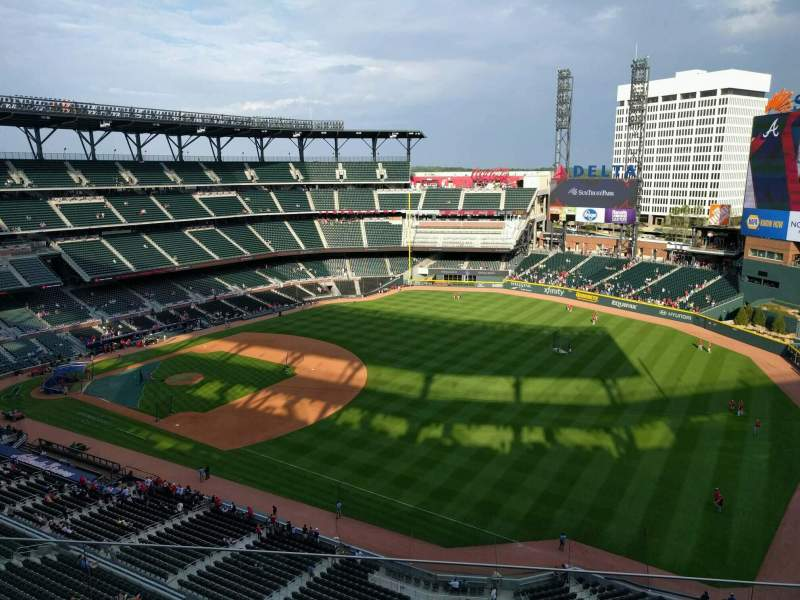 Seating view for Truist Park Section 413 Row 5 Seat 9